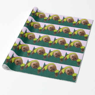 Baby Sloth in Pajamas Wrapping Paper
