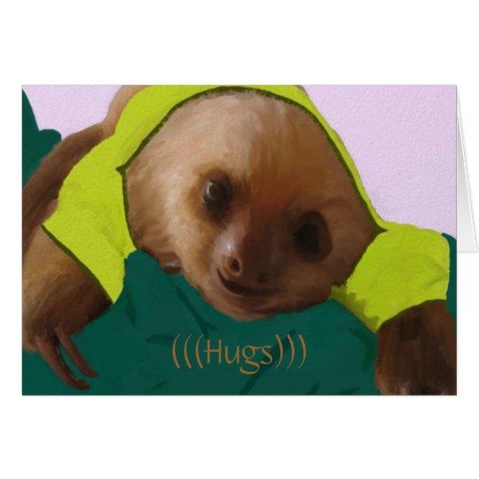 Baby Sloth in Pyjamas Card