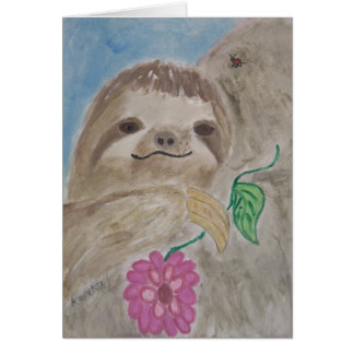 baby sloth note card