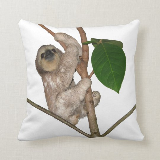 Baby Sloth Throw Pillow