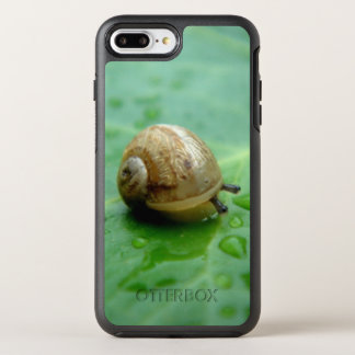 Baby Snail On Leaf With Waterdrops OtterBox Symmetry iPhone 8 Plus/7 Plus Case