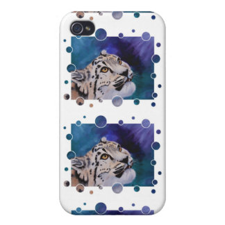 Baby Snow Leopard Bubbles IPhone 4 Case