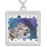 Baby Snow Leopard Bubbles Necklace