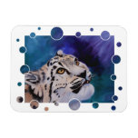 Baby Snow Leopard Magnets