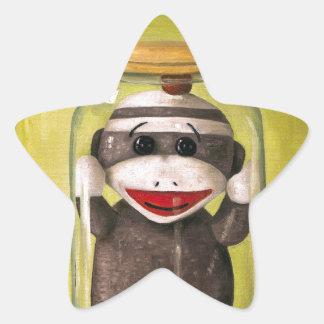 Baby Sock Monkey  Preserving Childhood 5 Star Sticker
