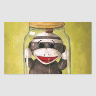 Baby Sock Monkey  Preserving Childhood 5 Sticker