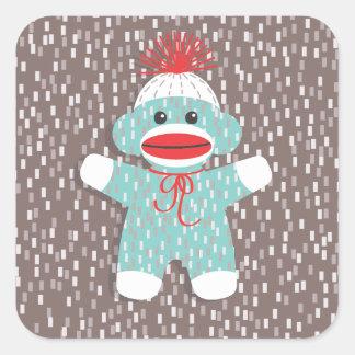 Baby Sock Monkey Sticker