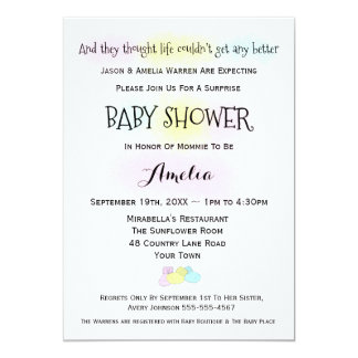 Baby Socks Boy or Girl Baby Shower Invitation
