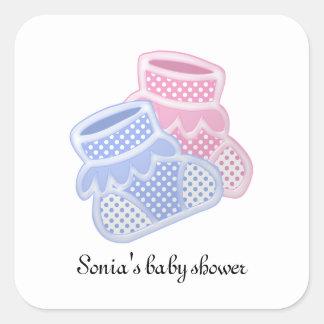 baby socks square sticker