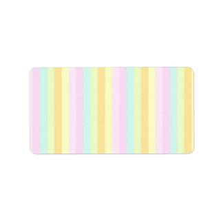 Baby Soft Pastels Address Label