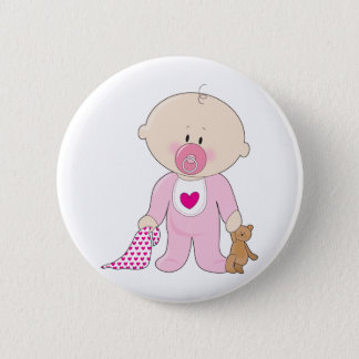 Baby Soother Girl 6 Cm Round Badge