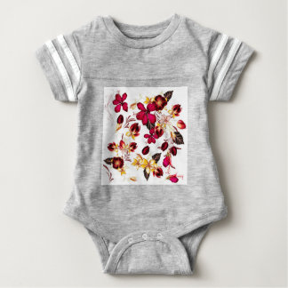 Baby sporty suit with flowers baby bodysuit
