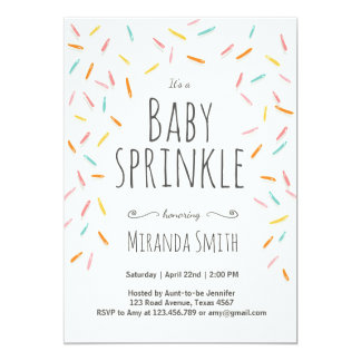 Baby Sprinkle invitation Sprinkles Confetti