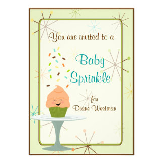 Baby Sprinkle Party Invitation in Gender Neutral