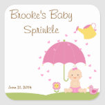 Baby Sprinkle Shower Favour Tag Square Stickers