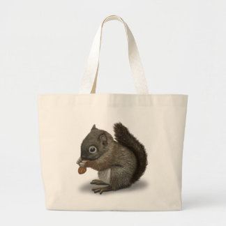 Baby Squirrel Large Tote Bag