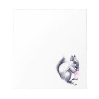 baby squirrel notepad