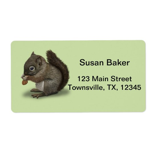 Baby Squirrel Shipping Label