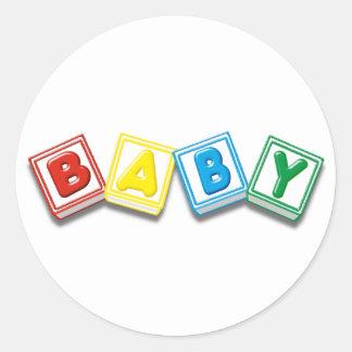 Baby Round Stickers