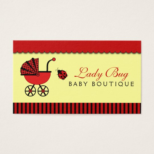 Baby Store Boutique Babies Shop Lady Bug Pram Business Card