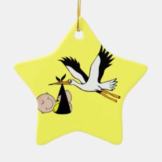 Baby & Stork - Bundle of Joy Christmas Ornament