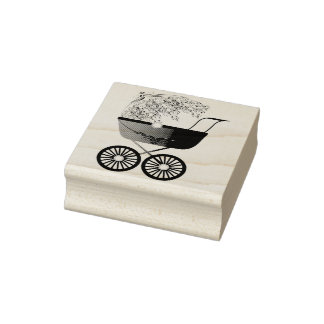 Baby Stroller Carriage Rubber Stamp
