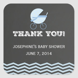 Baby Stroller Thank You Stickers Chalkboard