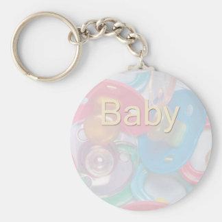 Baby Stuff Basic Round Button Key Ring