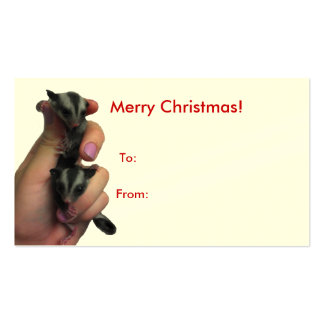 Baby Sugar Gliders Merry Christmas Big Tag Pack Of Standard Business Cards