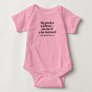 Baby suit - My Grandma is Schmart with T3! Baby Bodysuit