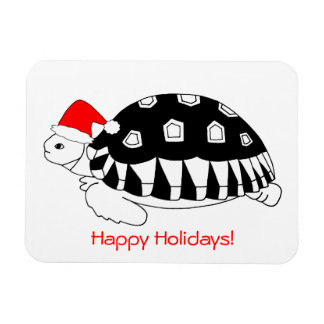Baby Sulcata Tortoise Holiday Magnet