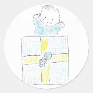 Baby surprise round sticker
