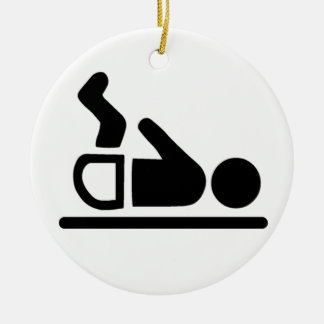 Baby Symbol Round Ceramic Decoration