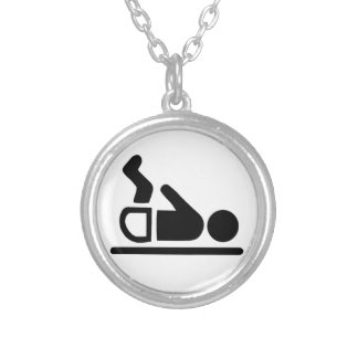 Baby Symbol Silver Plated Necklace