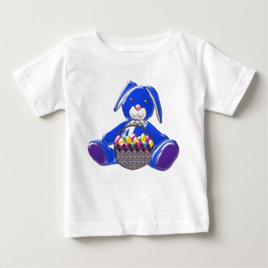 BABY T-SHIRT - BLUE EASTER BUNNY