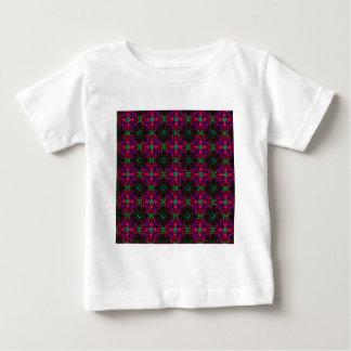 Baby T-Shirt Fractal Pattern pink green purple red