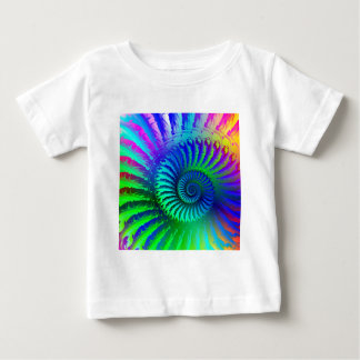 Baby T-Shirt - Psychedelic Fractal blue terquoise