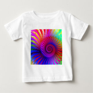 Baby T-Shirt - Psychedelic Fractal pink red purple