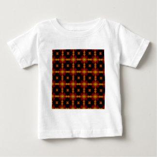 Baby T-Shirt - Retro Fractal Pattern red black
