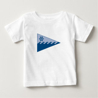 Baby T-shirt w burgee on front & Club name on back