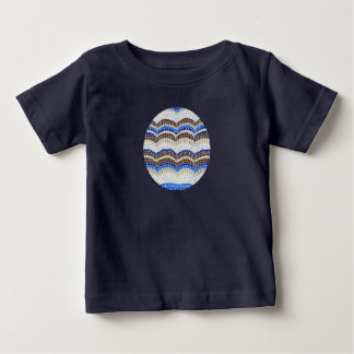 Baby T-shirt with blue mosaic