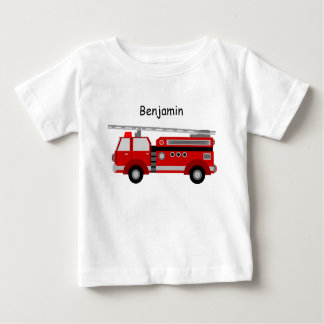 Baby t-Shirt with Fire Truck and Name