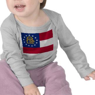 Baby T Shirt with Flag of Georgia, U.S.A.