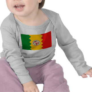 Baby T-Shirt with Flag of Los Angeles,U.S.A.
