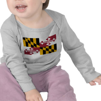 Baby T shirt with Flag of Maryland, U.S.A.