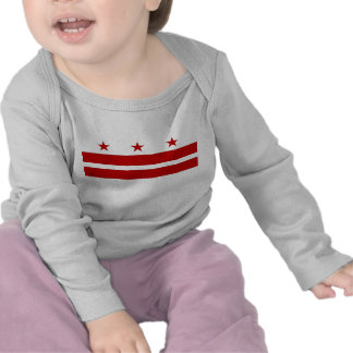 Baby T Shirt with Flag of Washington D.C., U.S.A.