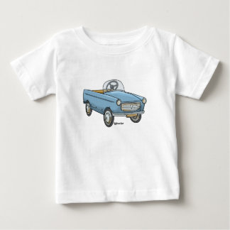 Baby t-shirt with vintage Peugeot staircase car