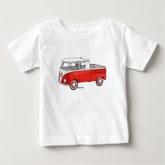 Baby t-shirt with vintage pickup staircase car