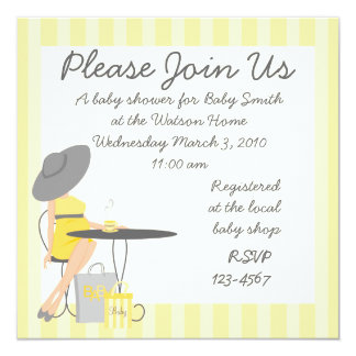 Baby Tea 13 Cm X 13 Cm Square Invitation Card