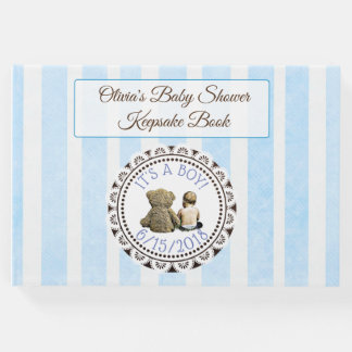 Baby & Teddy Bear Baby Shower Guestbook Keepsake